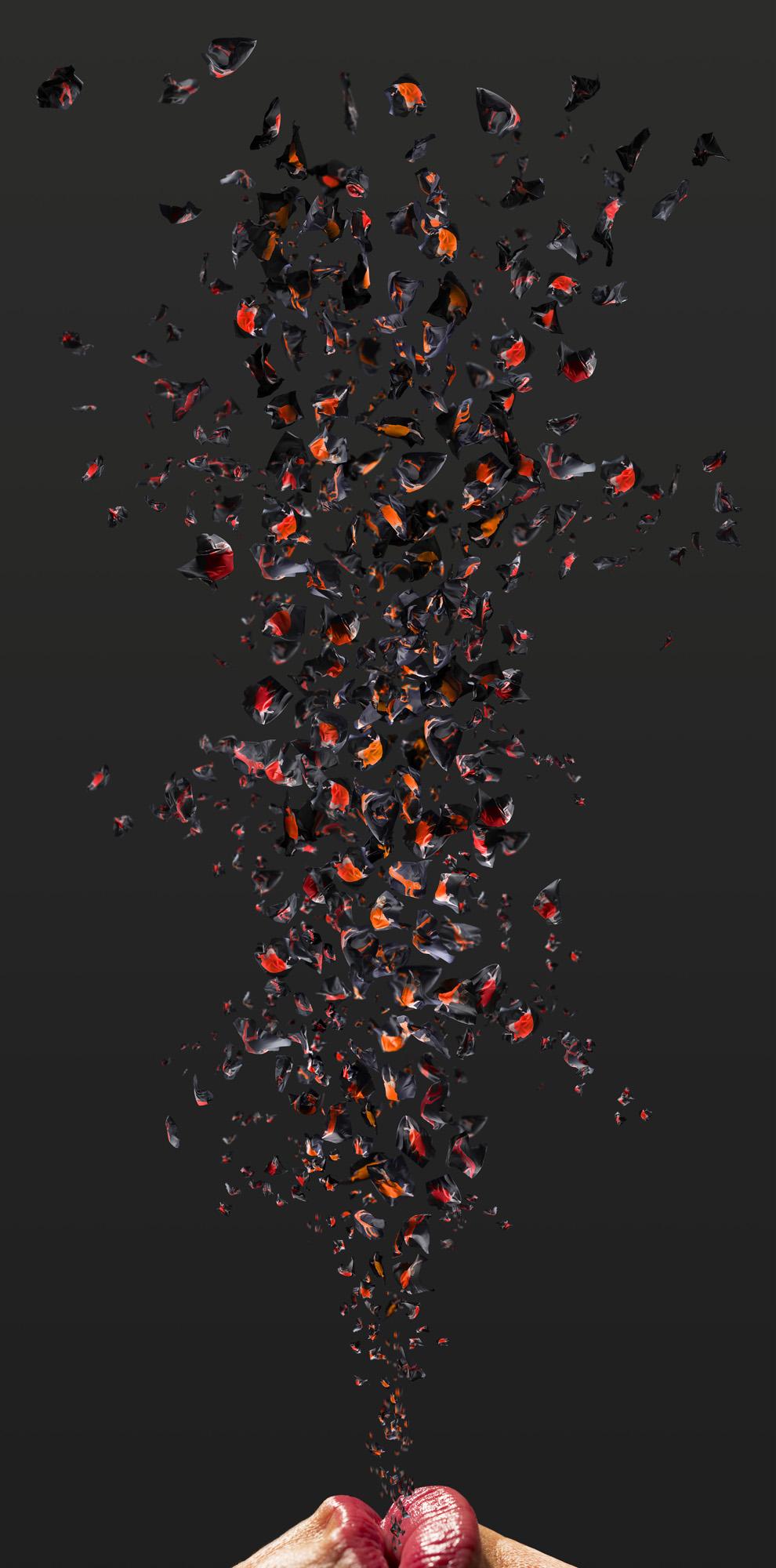 JULIE RRAP   Remaking the World #2  2015 Pigment print on paper on aluminium 200 x 100 cm