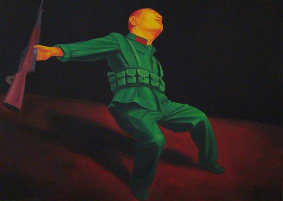 GUO JIAN   Untitled  2008 Oil on canvas 152 x 312 cm
