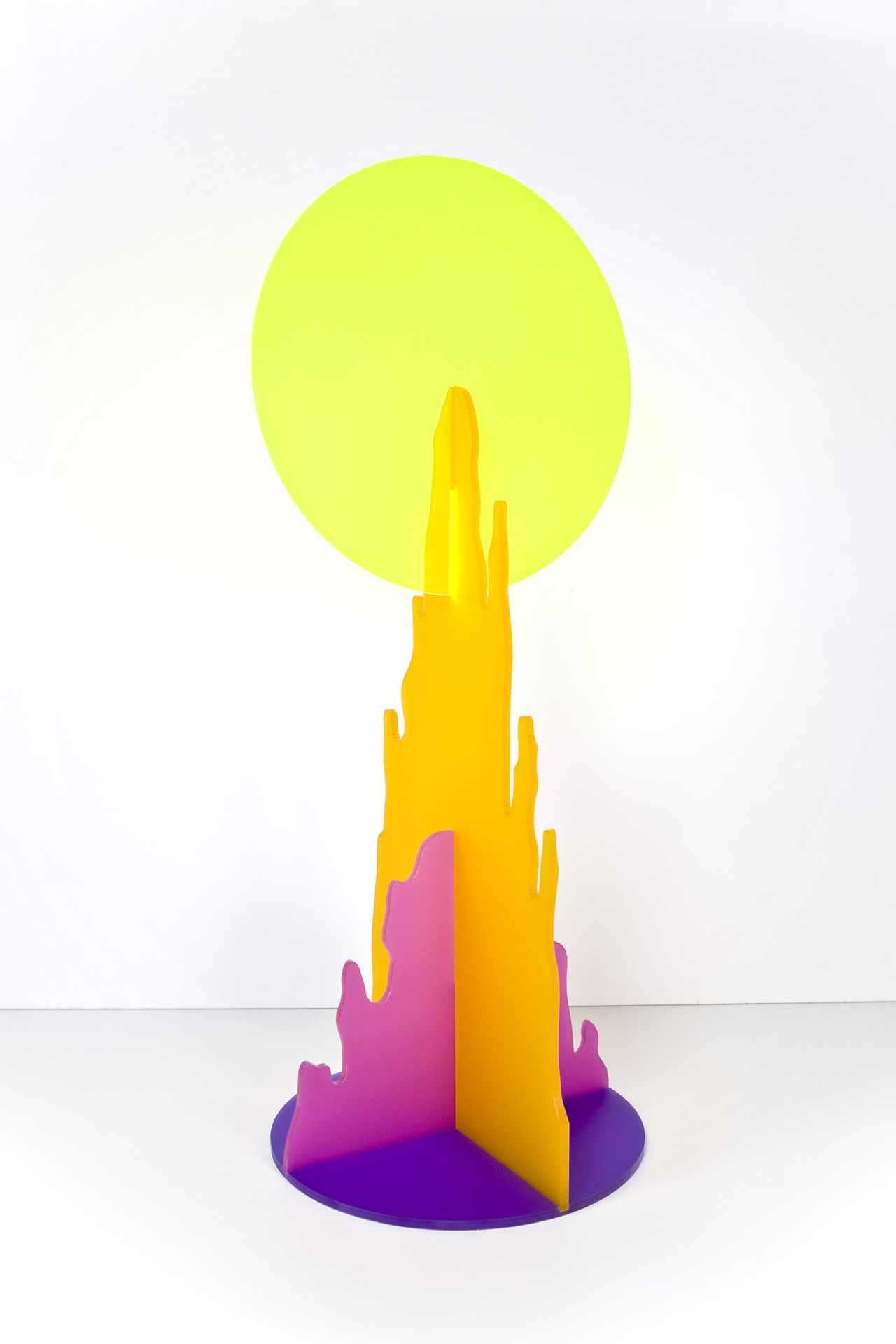 TRACY SARROFF    Mountain Sun (Small, Orange)    2015   Acrylic 62 x 28 cm