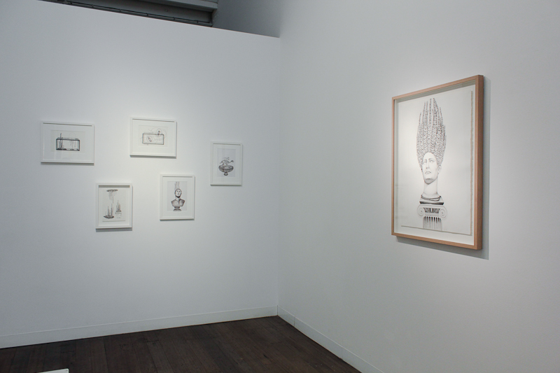 TRACY SARROFF   Barbecue Stalagmites, Balloon Drumsticks  (Installation view)