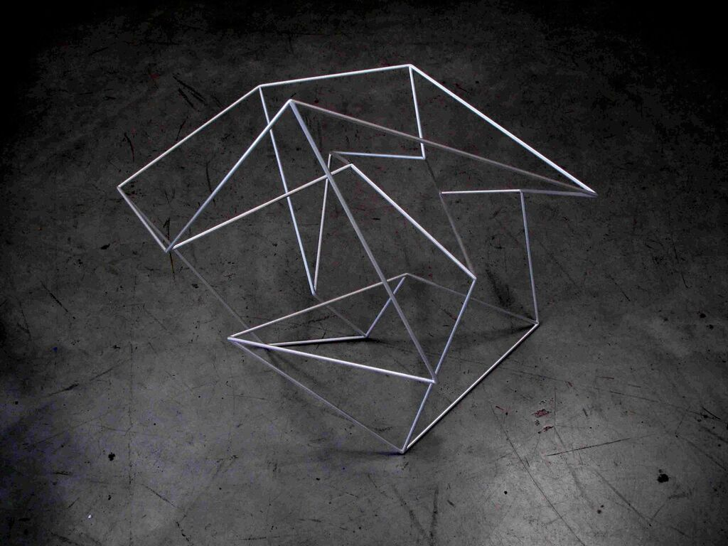 ROBERT OWEN   Third Movement #1 (from the series Thought Forms) 2015 Painted stainless steel 64 x 74 x 58 cm