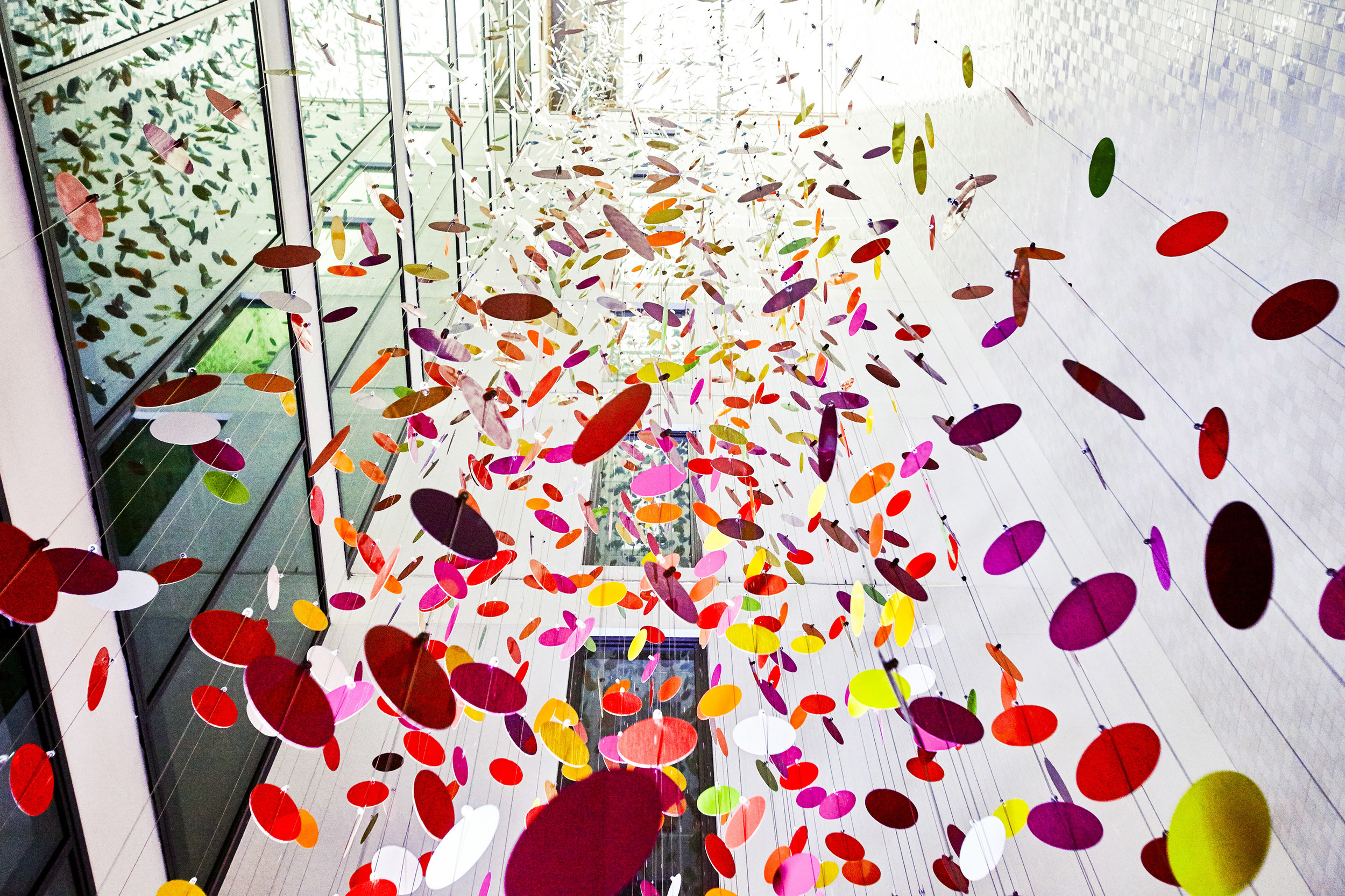Colours are the Country  by Nike Savvas, Macquarie Group Sydney, 2015, UAP.
