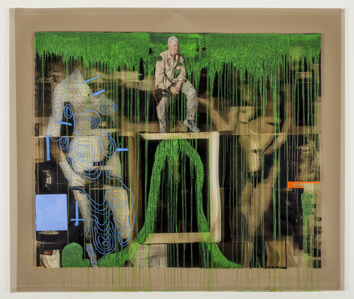 LYNDELL BROWNCHARLES GREEN   War and Peace #16: Medicine  2014 Oil and acrylic on digital print on duraclear film 110 x 140 cm