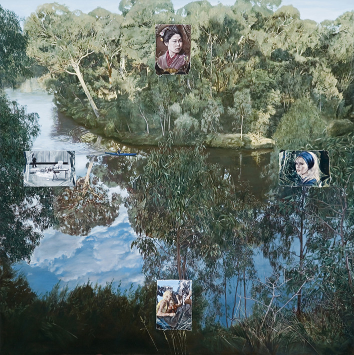 LYNDELL BROWN CHARLES GREEN   Galatea Point  2005 Digital photograph on duraclear film edition of 5 112 x 112 cm