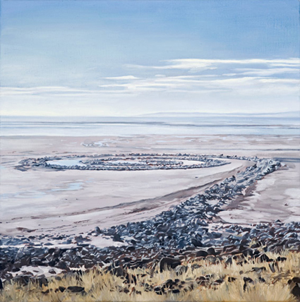 LYNDELL BROWN CHARLES GREEN   Spiral Jetty From Mountain, October 2004  2006 Oil on Linen 31 x 31 cm