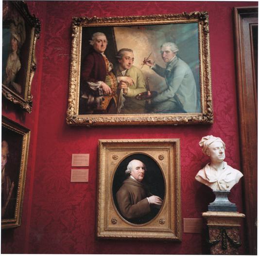 ANNE ZAHALKA     National Portrait Gallery #4, London  1992/2010 Type C Photograph, Edition of 5 80 x 80 cm