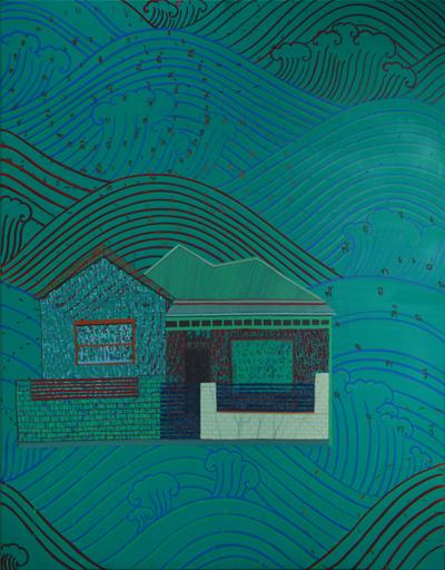 Phaptawan Suwannakudt,  Bhava 4,  2011, acrylic on canvas, 120 x 95cm.