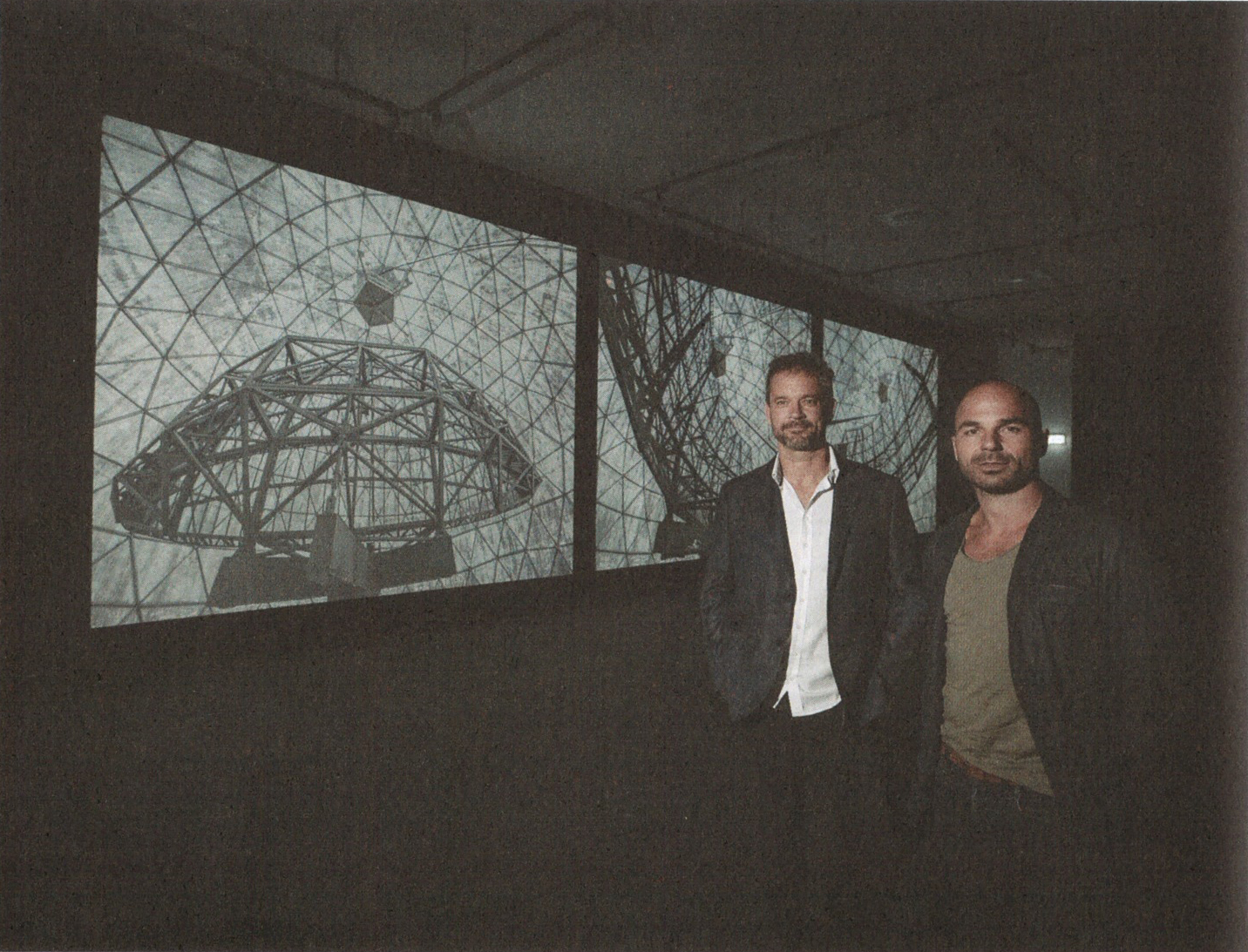 Murray Fredericks and Tom Schutzinger,  installation view.  Photograph by Reg Ryan.