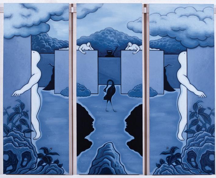 GUAN WEI    Secret Histories #2     2005   Acrylic on canvas 159 x 127 cm