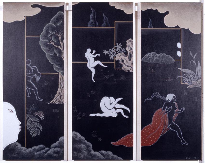 GUAN WEI    Secret Histories #8    2005   Acrylic on canvas 162 x 130  cm