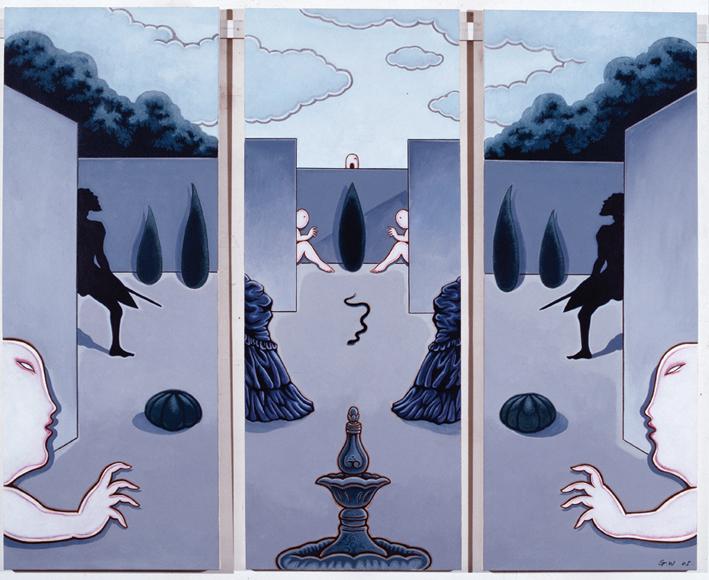 GUAN WEI    Secret Histories #5    2005   Acrylic on canvas 159 x 130 cm