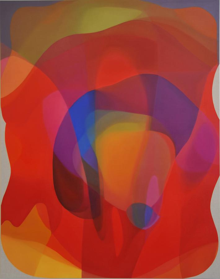JOHN YOUNG   Veiled Spectrum III   2014   Oil on linen   190 x 150 cm