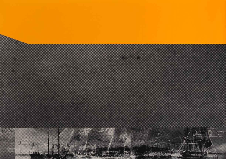 JOHN YOUNG     The Illustrious Fleet of Lowe Kong Meng  2015 Digital print and felt on canvas 175 x 250.5 cm