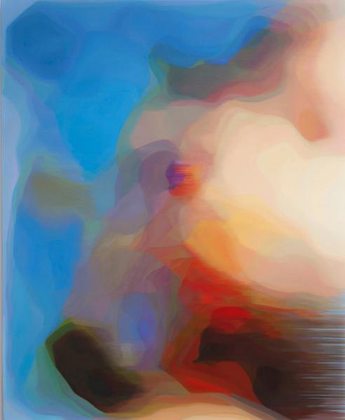 JOHN YOUNG     LKM (Blue)  2015 Oil on linen 156 x 126 cm