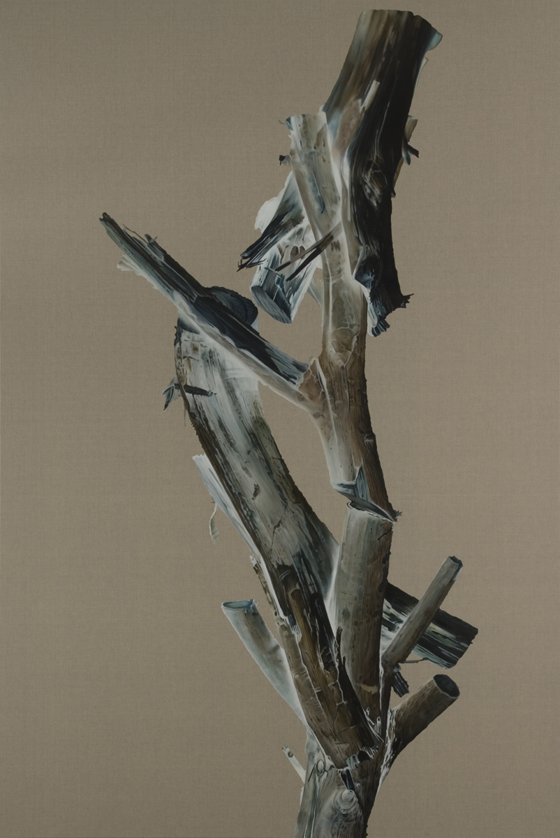 JOHN YOUNG     The Crippled Tree #1  2010 Oil on linen 274 x 183 cm