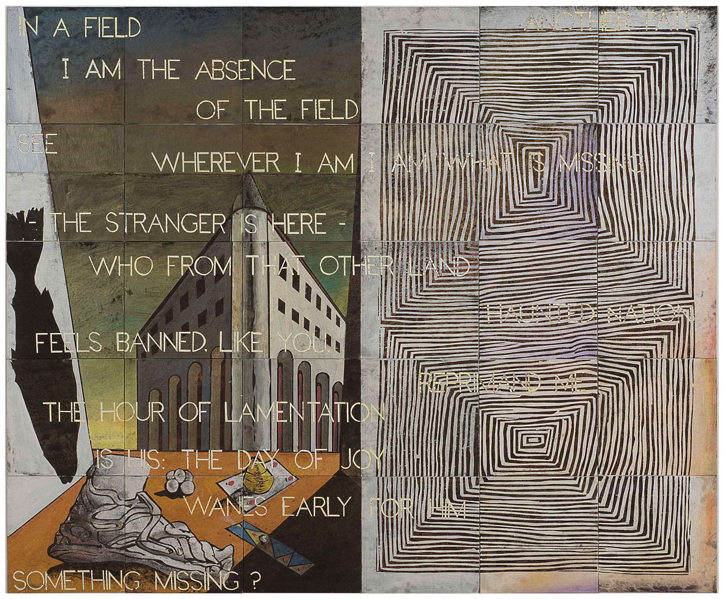 IMANTS TILLERS   Is Something Missing  2016 Synthetic polymer paint, gouache on 30 canvasboards, nos. 96621 - 96650 152.4 x 182.8 cm