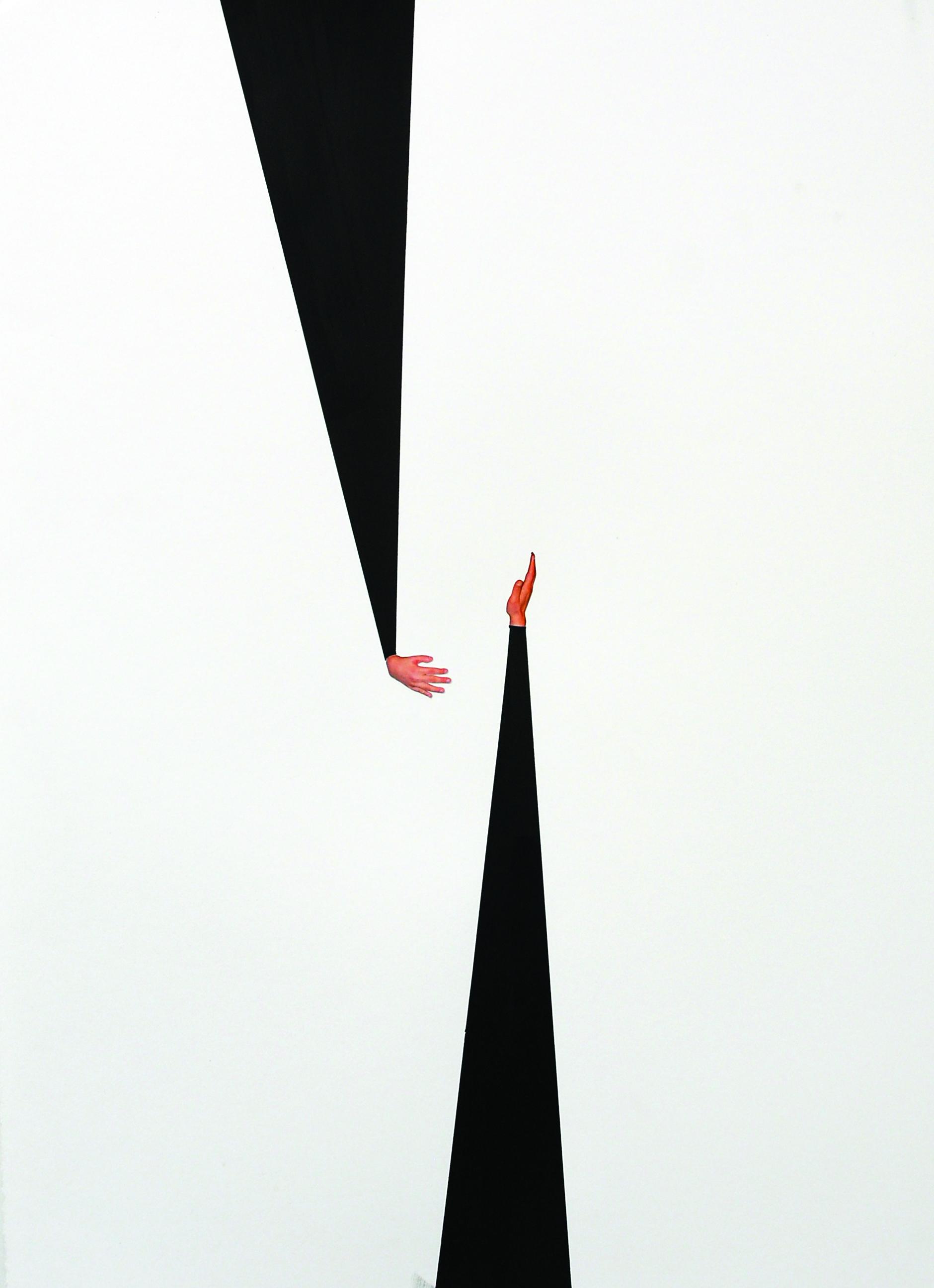 JUSTINE KHAMARA   Passages  2015 Acrylic paint, colour photograph 75 x 55 cm