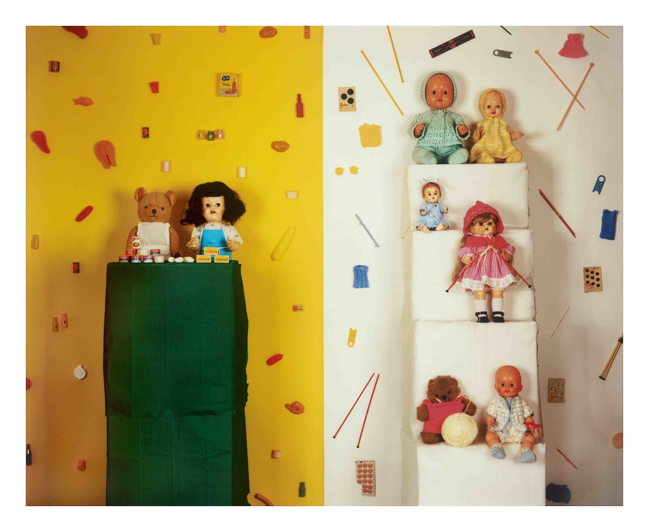 JACKY REDGATE   Unfold - Food Shop and Knitting   2016   chromogenic photograph   205 x 244 cm