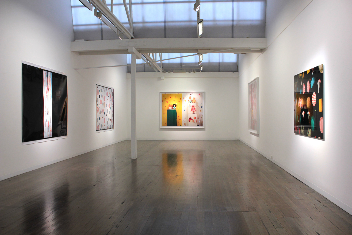 JACKY REDGATE   Light Throw (Mirrors) Fold  Installation view