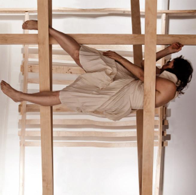 Julie Rrap,  Escape Artist: Castaway , 2009, digital video.