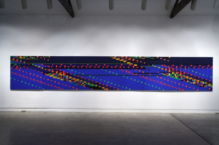 Witness Facing East,  2005-2006, Synthetic Polymer Paint on Linen (6 panels), Installation view