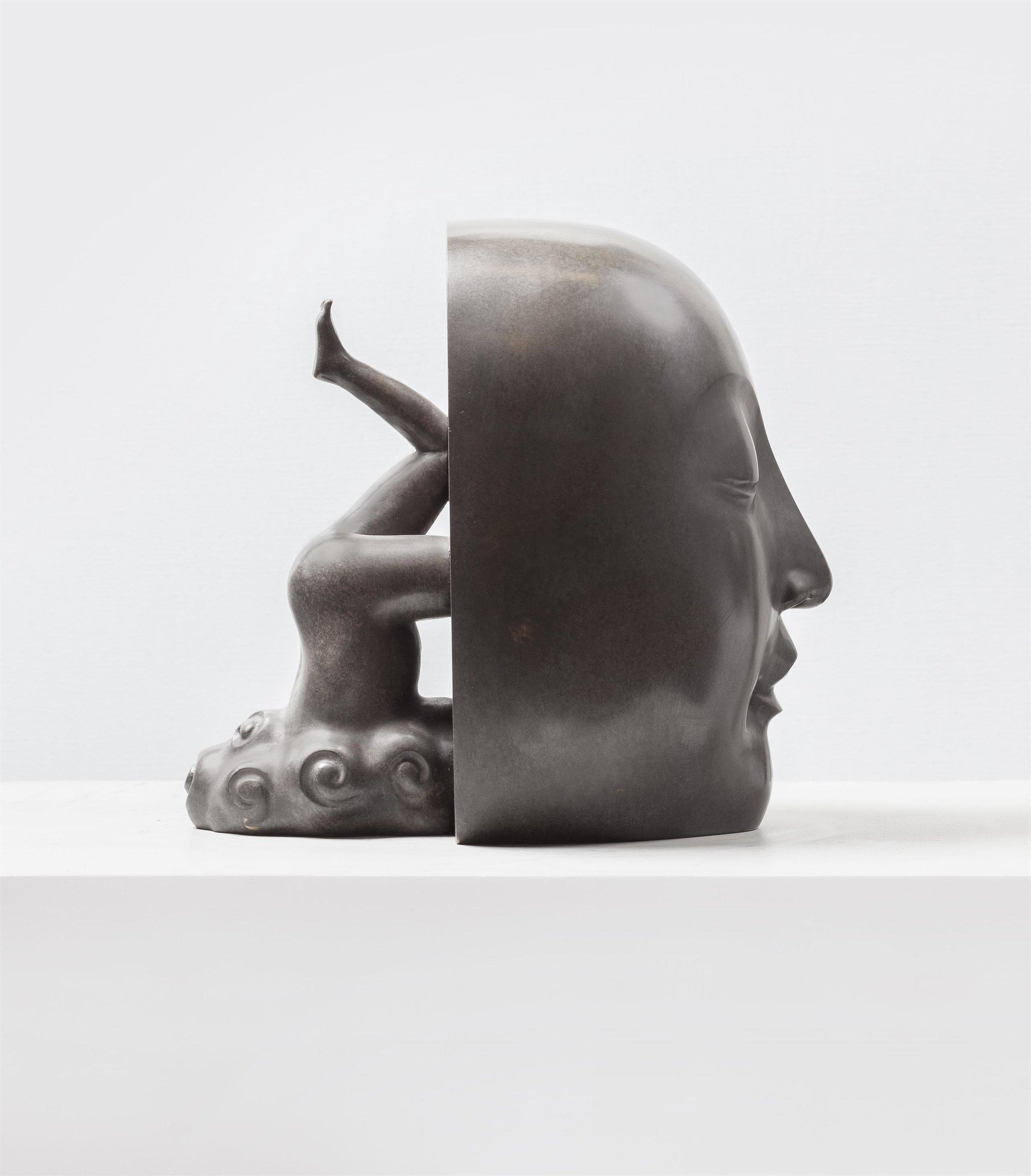 GUAN WEI   Salvation No.2  2015 bronze sculpture 29 x 23 x 28 cm