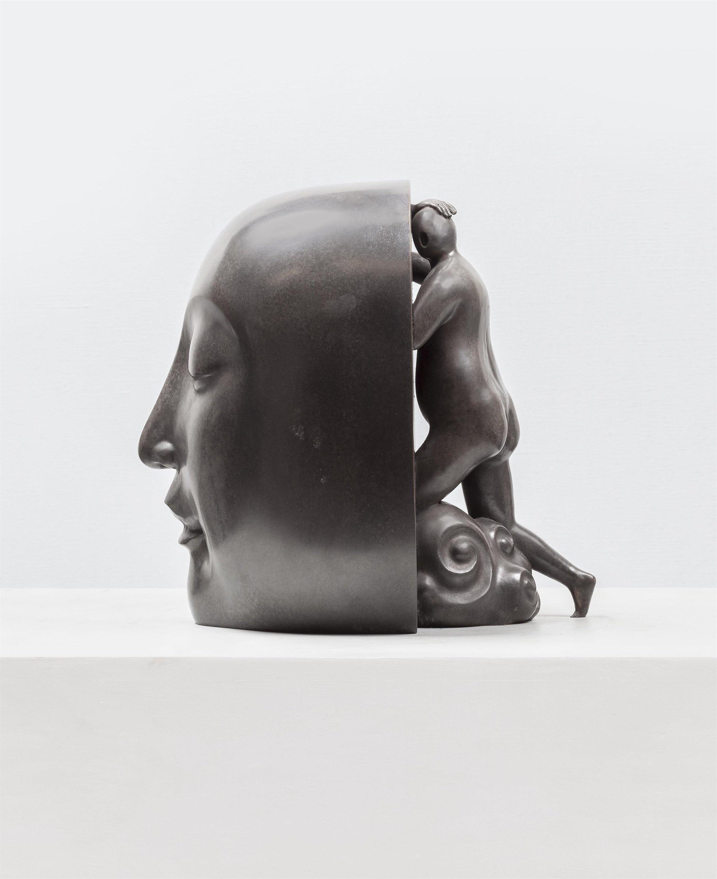 GUAN WEI   Salvation No.4  2015 bronze sculpture 29 x 23 x 28 cm