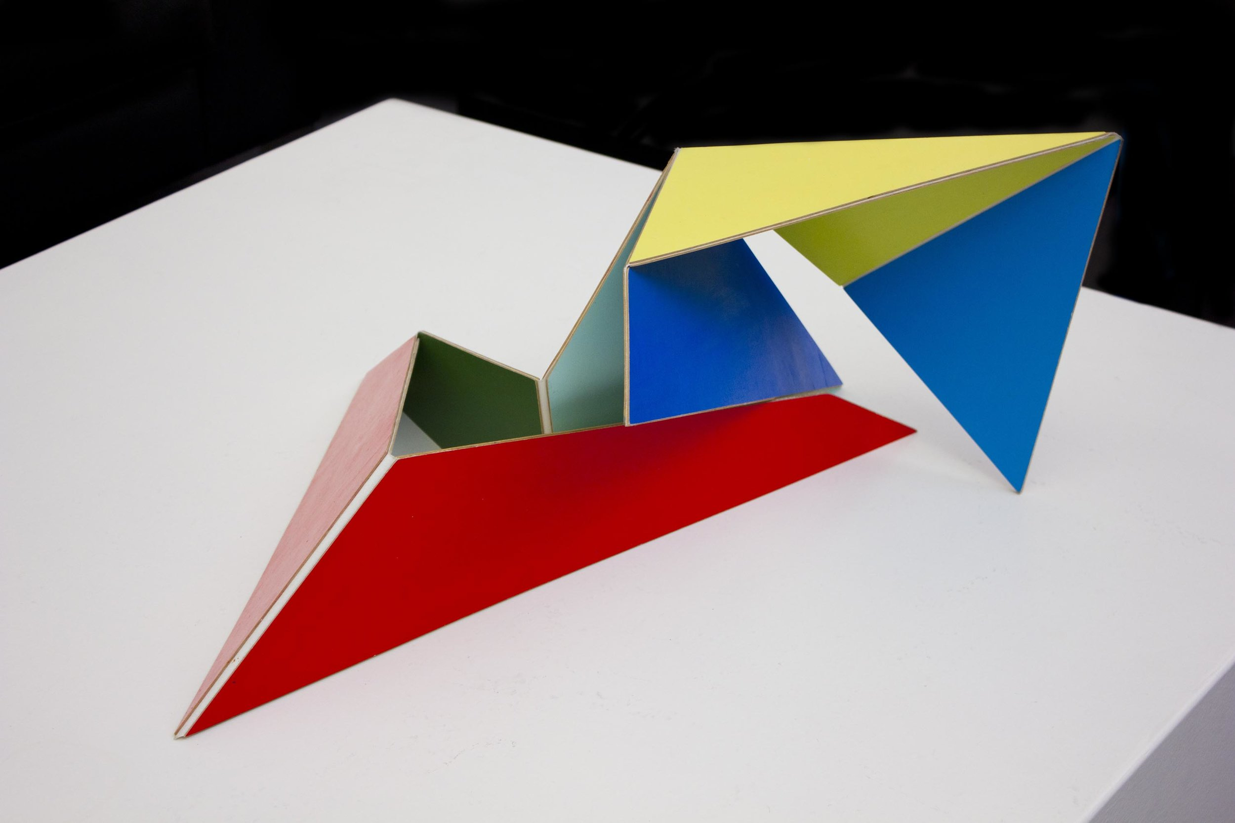 GEMMA SMITH   Multi Coloured Adaptable  2008 acrylic on plywood, polyester installed dimensions variable NFS