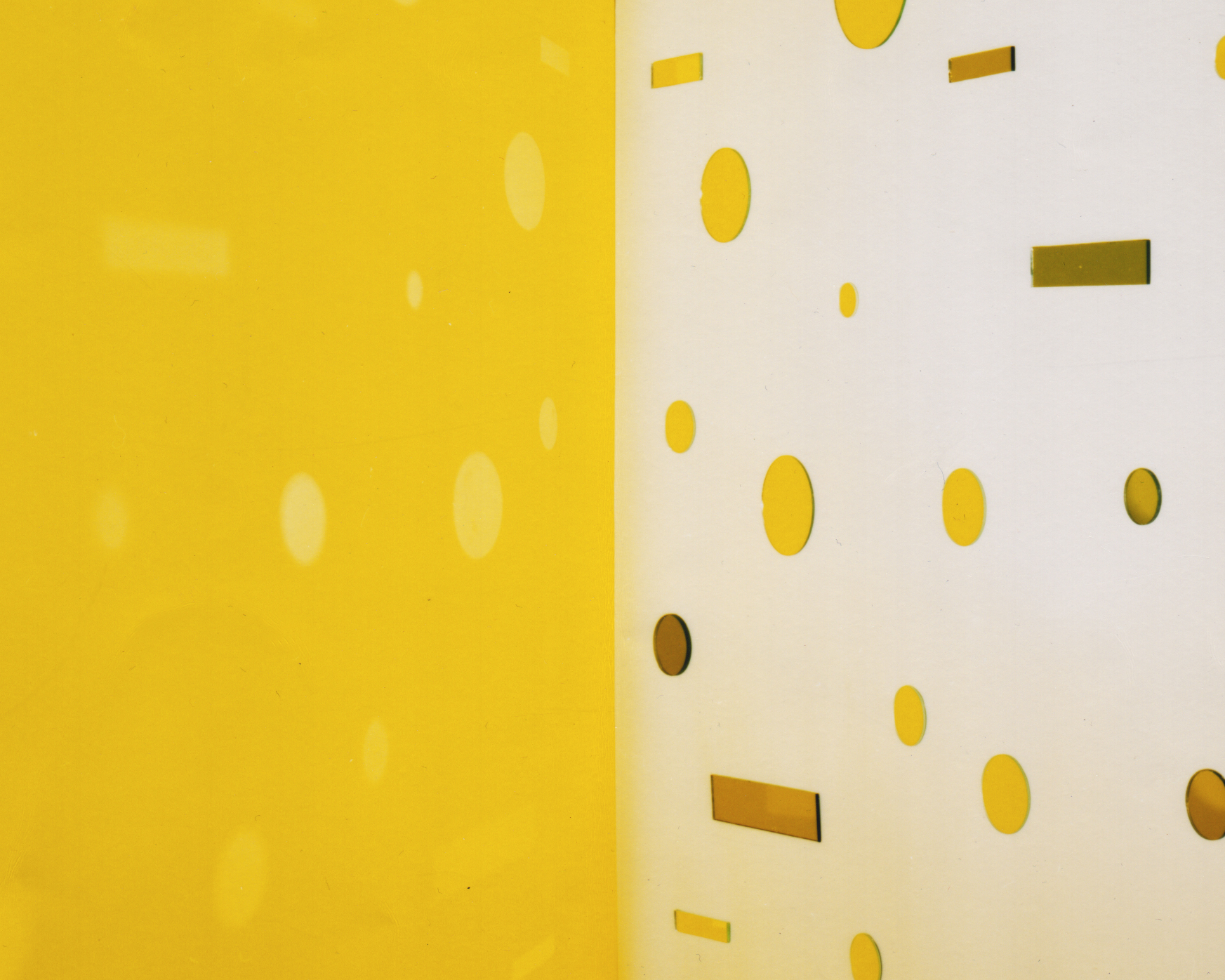 JACKY REDGATE   Light Throw (Mirrors) Fold - Yellow  2016 chromogenic photograph (handprinted Sandyprints) 104 x 130 cm