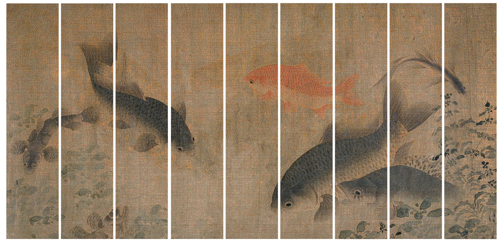 GUO JIAN   The Fish No.2  2014 Inkjet pigment print (9 panels) 200 cm x 399 cm