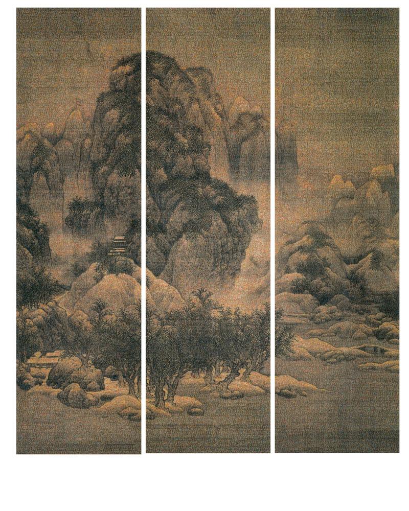 GUO JIAN   The Landscape No.4  2014 Inkjet pigment print (3 panels) 200 cm x 167.7 cm