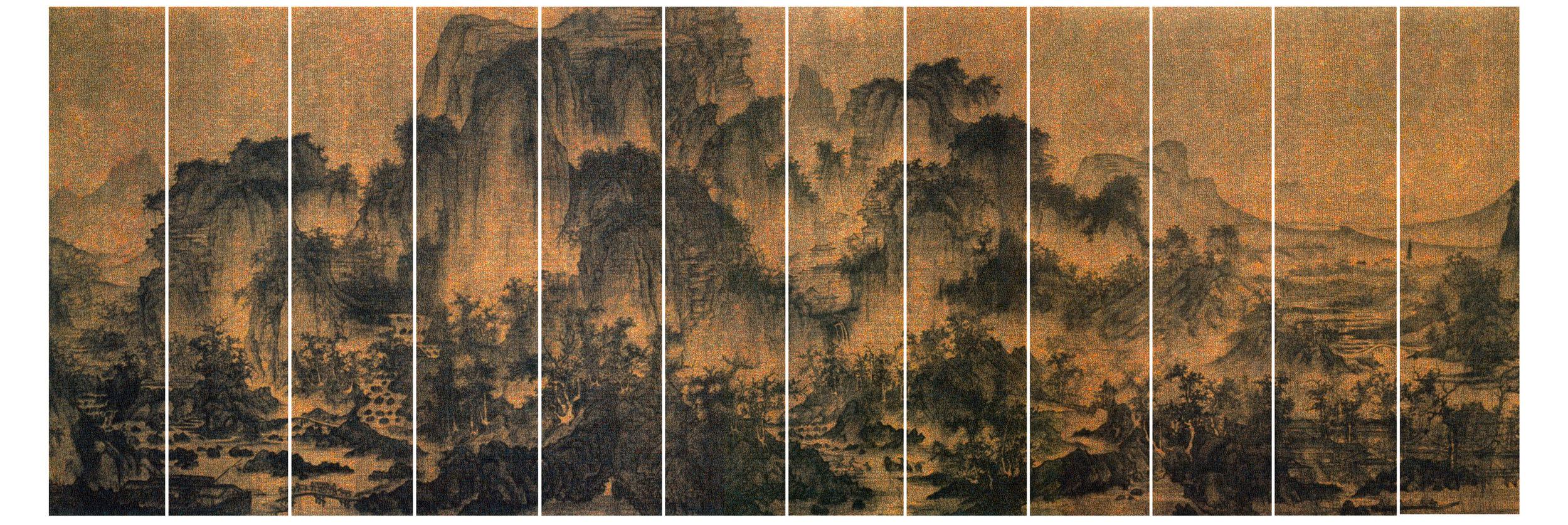 GUO JIAN   The Landscape No.3  2016 Inkjet pigment print ( 12 panels) 200 cm x 564 cm