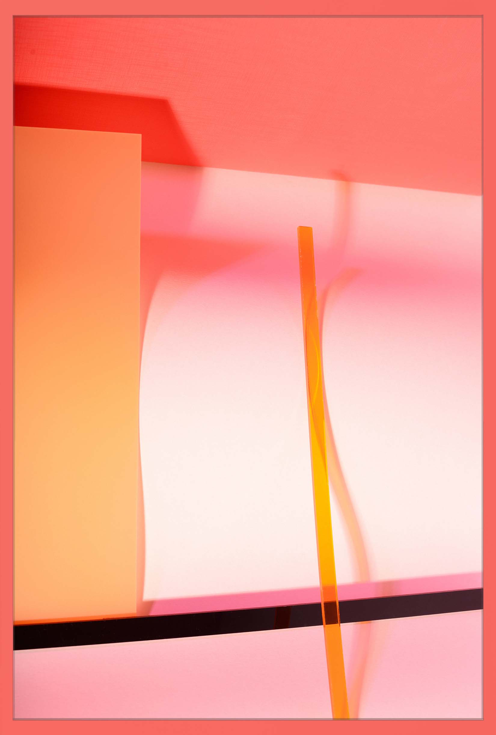 LYDIA WEGNER   Apricot Wave  2017 Archival inkjet print 80 x 53.5 cm
