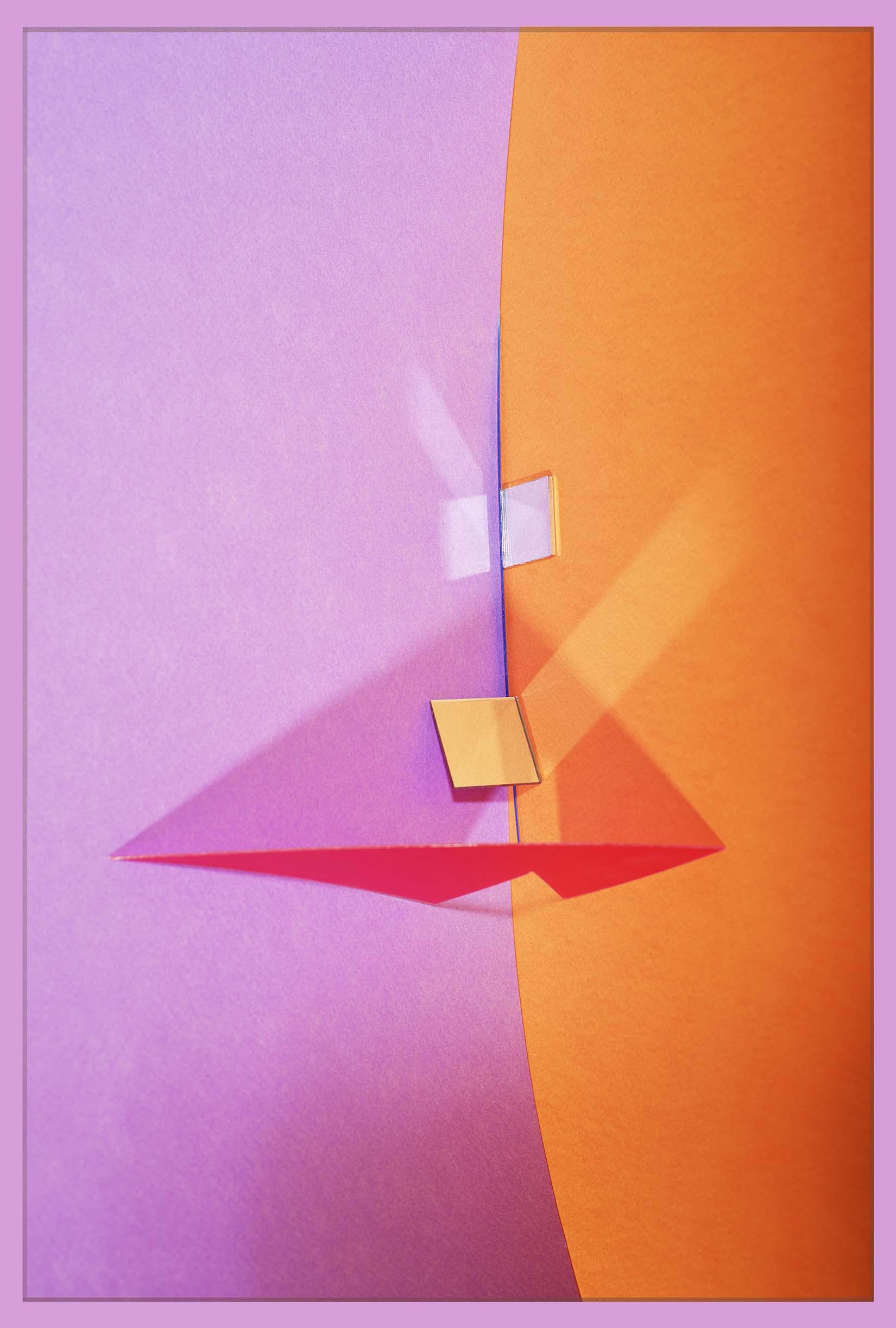 LYDIA WEGNER   Orange Mirror  2017 Archival inkjet print 106 x 71 cm
