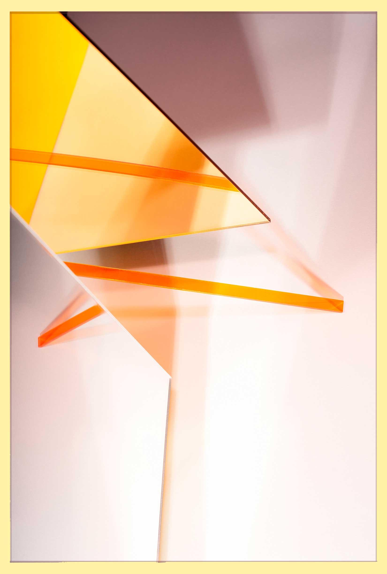 LYDIA WEGNER   Yellow Mirror Slide  2017 Archival inkjet print 106 x 71 cm