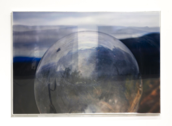 JANET LAURENCE   The Lie in the Lens II  2008 Duraclear, polished aluminium, acrylic 70 x 10 cm
