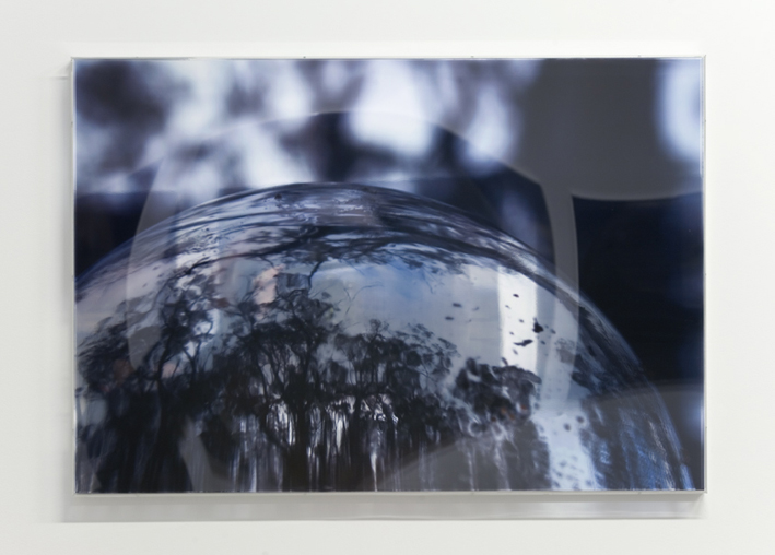JANET LAURENCE   Last Glance in the Glass I  2008 Duraclear,polished aluminium, acrylic 70 x 100 cm