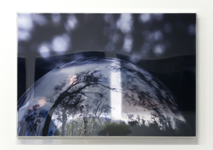 JANET LAURENCE   Last Glance in the Glass III  2008 Duraclear, polished aluminium, acrylic 70 x 100 cm