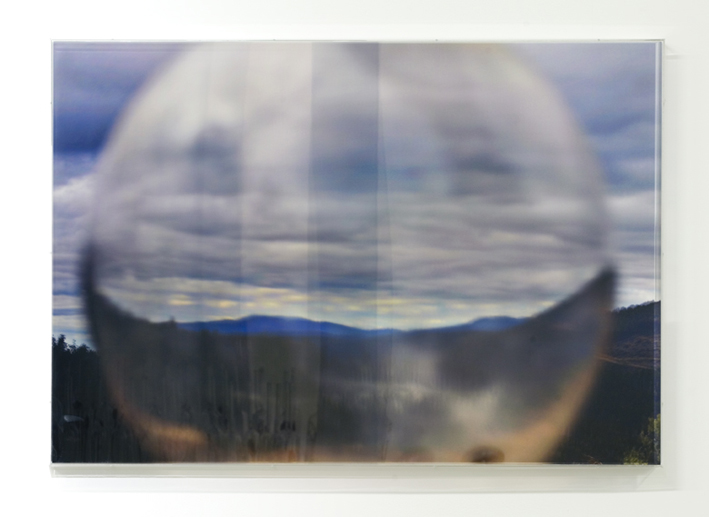JANET LAURENCE   The Lie in the Lens IV  2008 Duraclear, polished aluminium, acrylic 70 x 10 cm