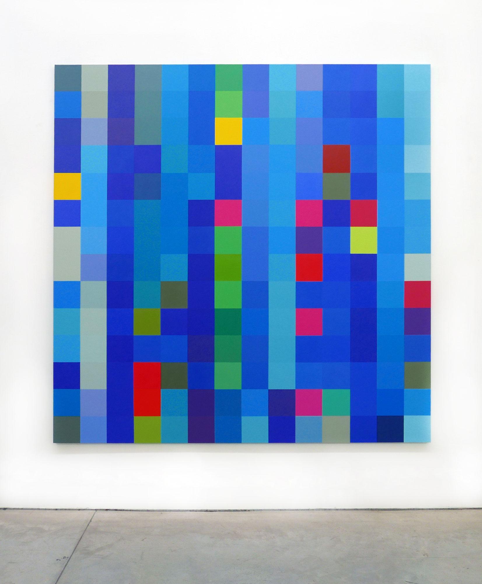 Robert Owen, Flickering Light #3 (Ocean Road), 2017, synthetic polymer paint on Belgium linen, 198 x 198 cm