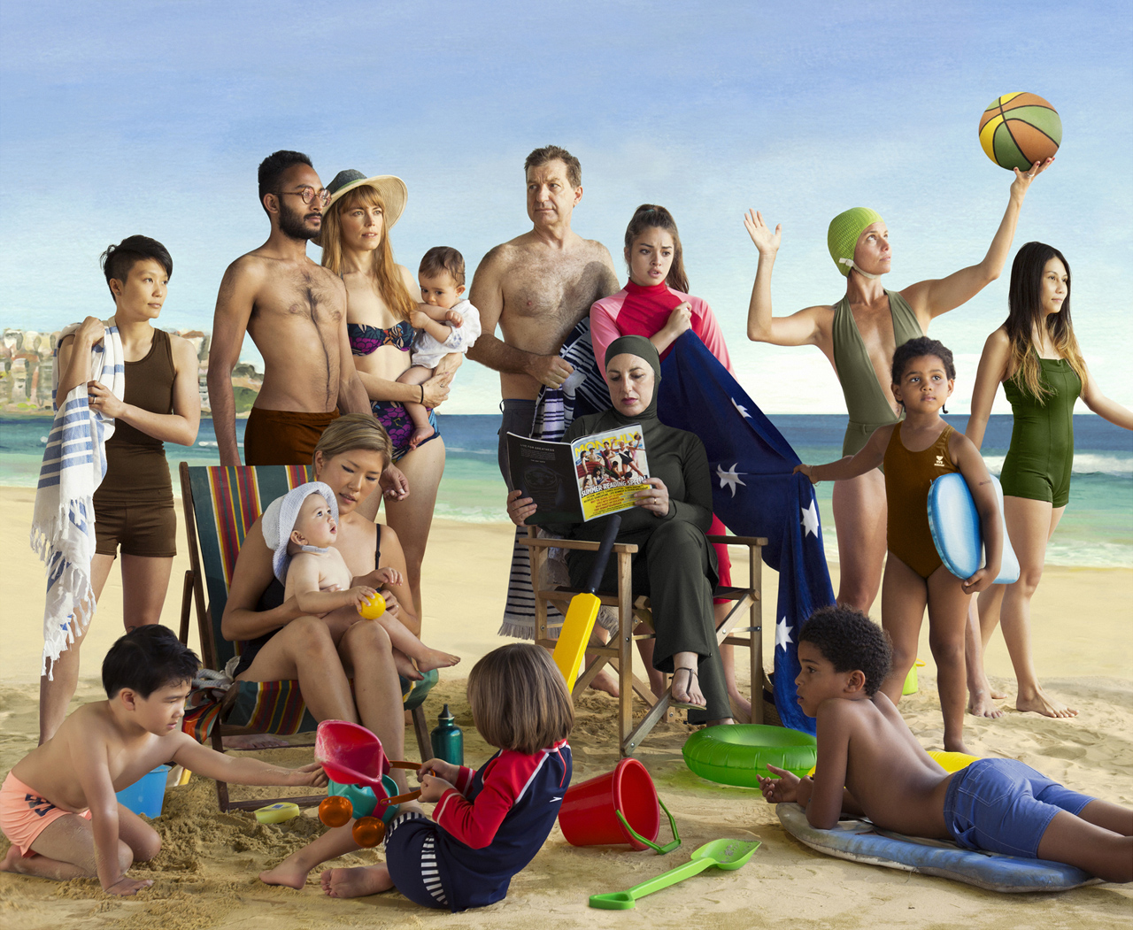 ANNE ZAHALKA   The New Bathers  2013 Type C photograph on flex 90cm x 74cm