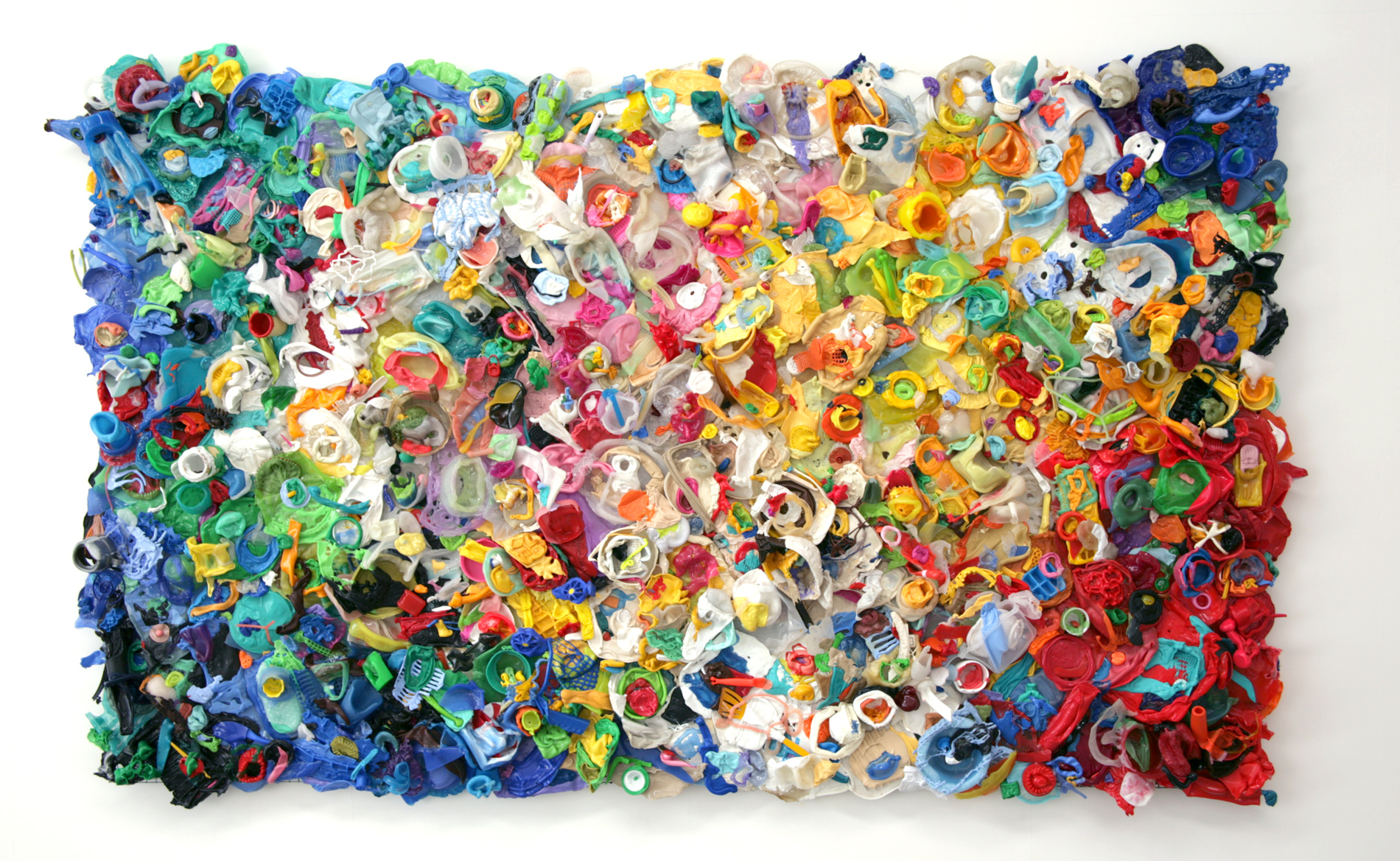 DANI MARTI   its all about peter  2010 melted plastic 330 x 200 x 16 cm