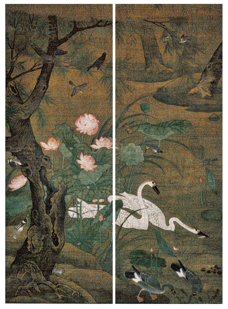 GUO JIAN   The Birds No.4  2016 Inkjet pigment print (2 panels) 200 cm x 143 cm