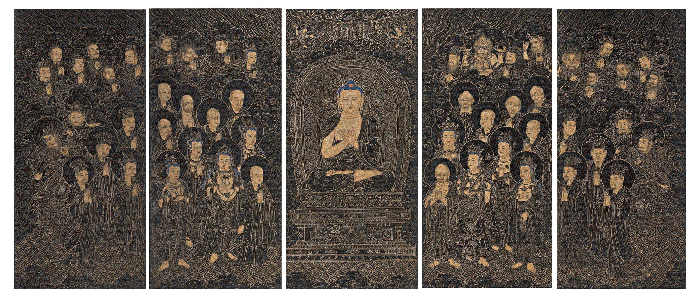 GUO JIAN  The Buddha No.1 2016 Inkjet pigment print (5 panels) 200 cm x 471 cm