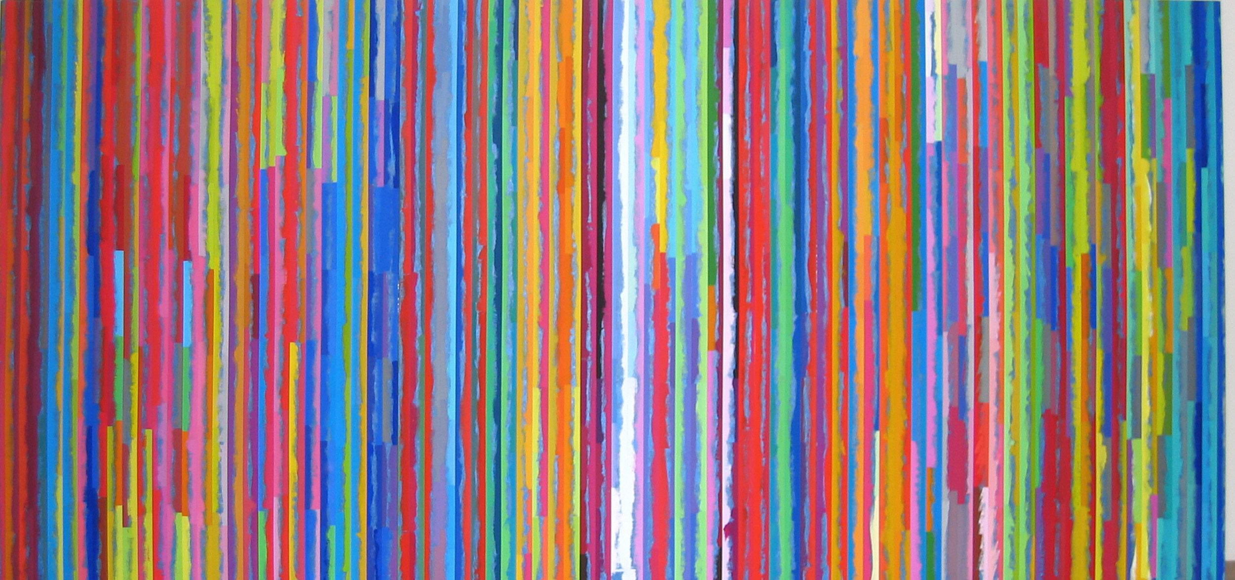 ROBERT OWEN   Spent Light I  2005 Polymer paint, wood & aluminium 102 x 152 cm