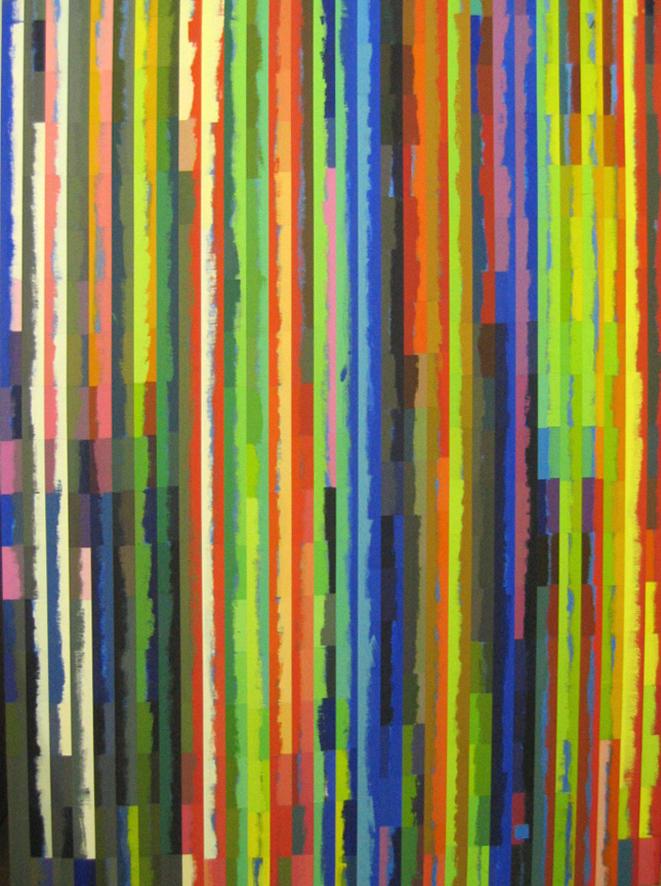 ROBERT OWEN   Spent Light #5  2004 Polymer paint, wood & aluminium  76 x 120 cm