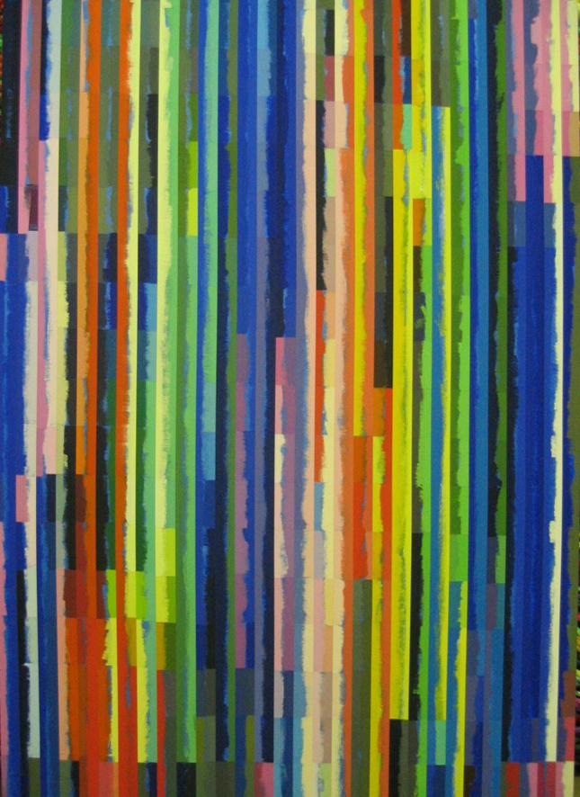 ROBERT OWEN   Spent Light #6  2004 Polymer paint, wood & aluminium  76 x 120 cm