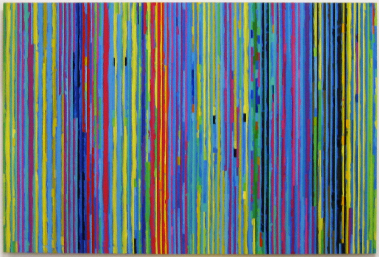 ROBERT   OWEN   Spent Light #3  2004 Polymer paint, wood & aluminium  100 x 206 c