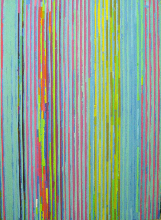 ROBERT OWEN   (Spent Light) Spent Light 4  2004 Polymer paint, wood & aluminium 102 x 76 cm