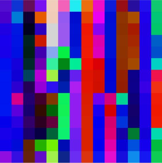 ROBERT OWEN   Flickering Light #3 (Text of Light series)  2004 Synthetic polymer paint on Belgium linen 198 x 198 cm